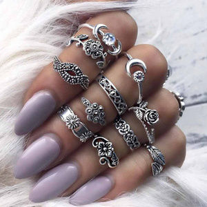 Jewelry - 11 Piece Boho Midi  Knuckle Rings